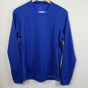 Patagonia Blue w/Black Stripe Capilene3 Midwgt Tee